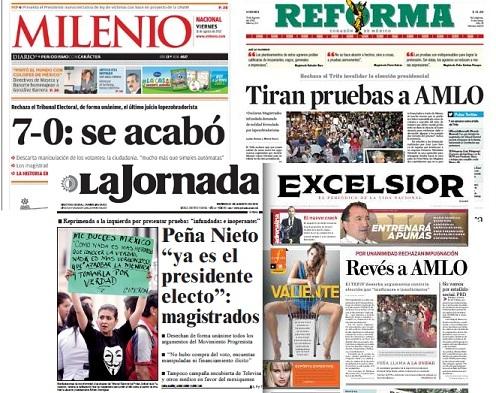 ...los diarios  de hoy...