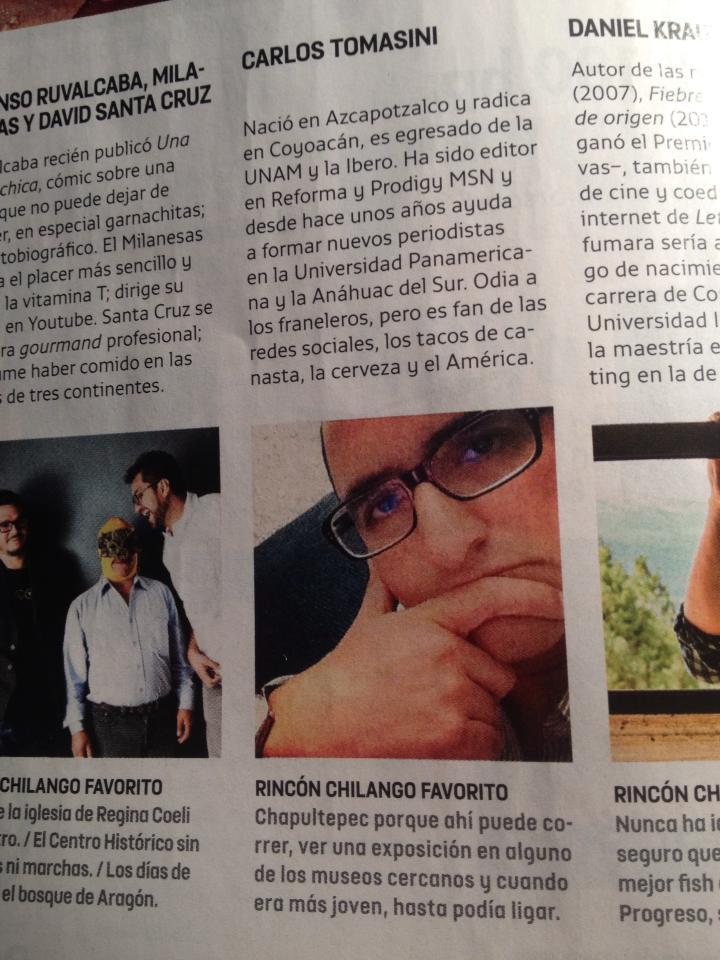 Publicada en el número de abril 2013 de Chilango.