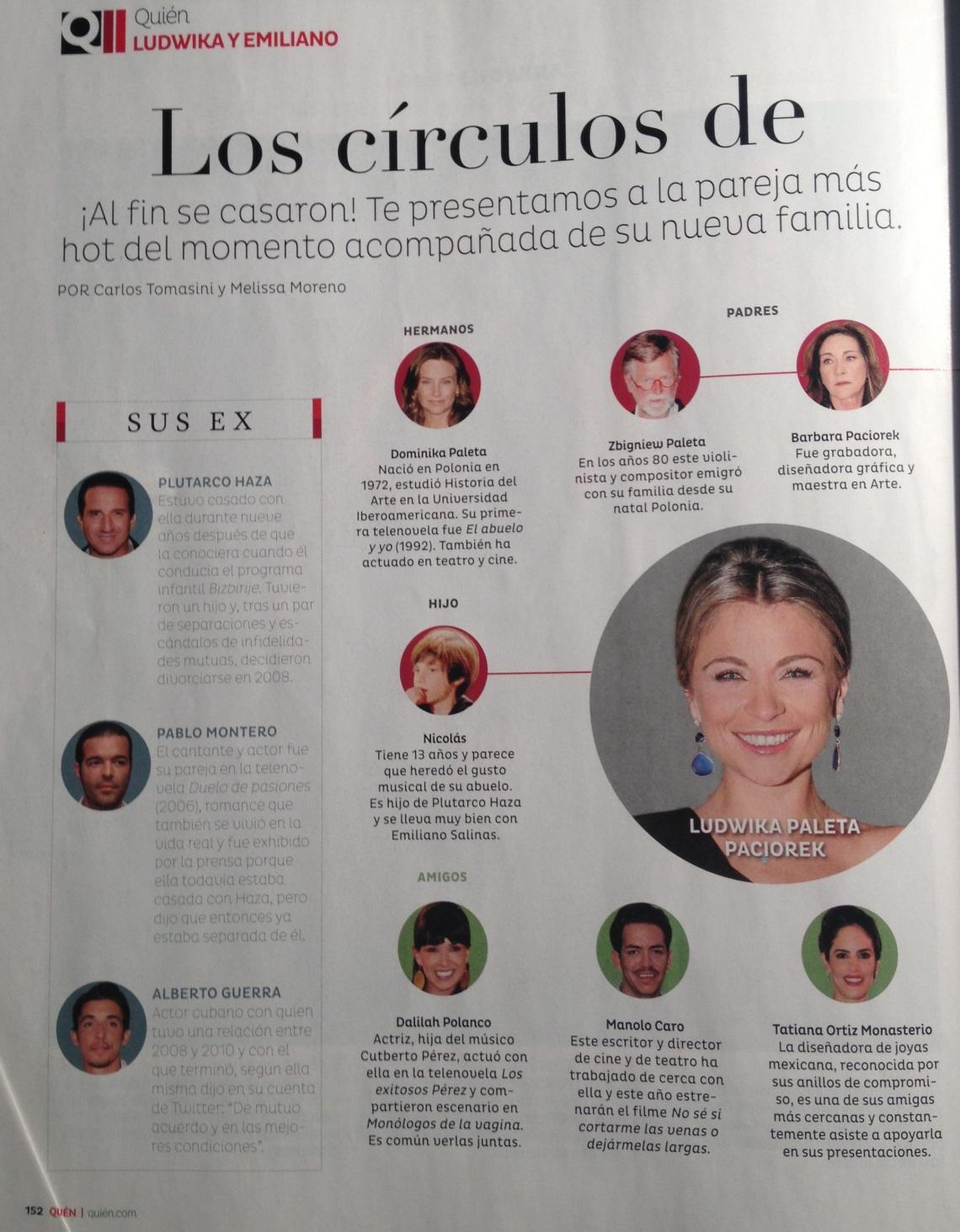 Publicado en la edición del 26 de abril de la revista Quién.