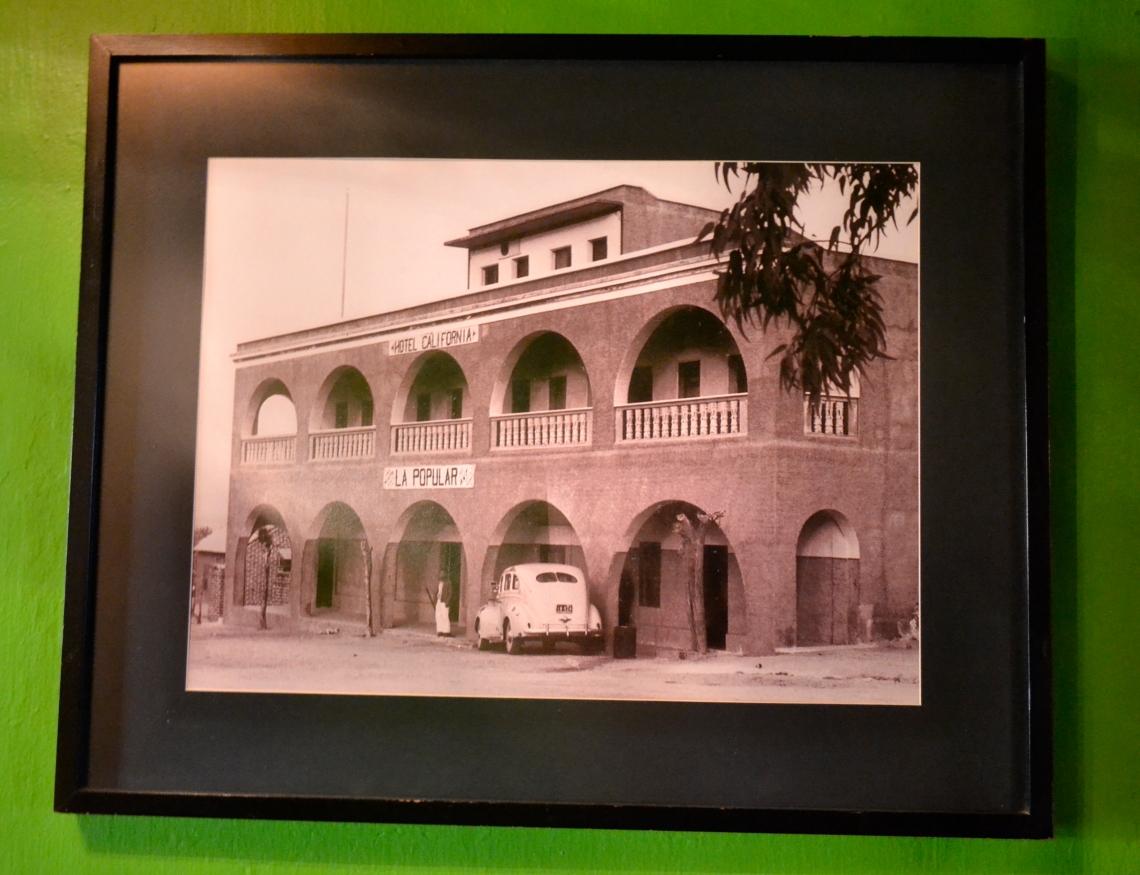 3 Foto del Hotel California a mediados de los 50 cundo en su planta baja había una tienda